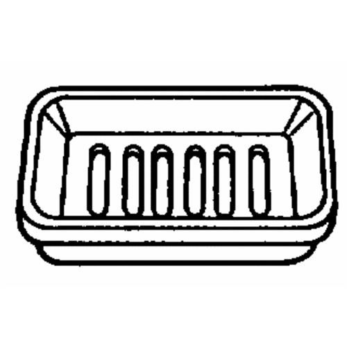 Homz Products/Bath Plastic Counter Soap Dish