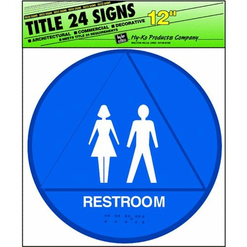 Hyko Prod. ADA/Title 24 Restroom Signs