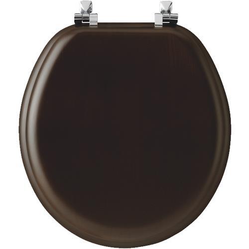 Bemis/Mayfair Walnut Veneer Round Toilet Seat