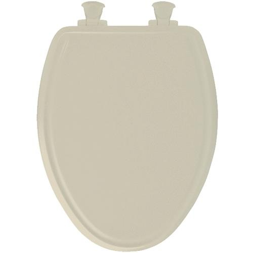 Bemis/Mayfair Bone Elongated Wood Slow-Close Toilet Seat