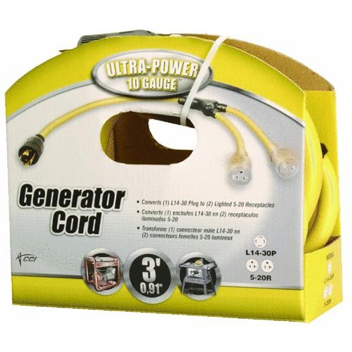 Woods Ind. Lighted Generator Cord