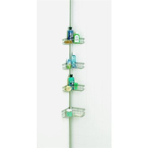 Zenith Prod. Zenith 4-Shelf L-Style Corner Shower Caddy
