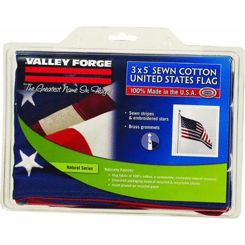 Valley Forge Valley Forge 3' x 5' Cotton U.S.A. Flag