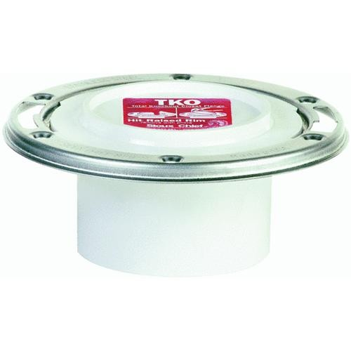 Sioux Chief PVC Total Knockout Flange With Stainless Steel Ring