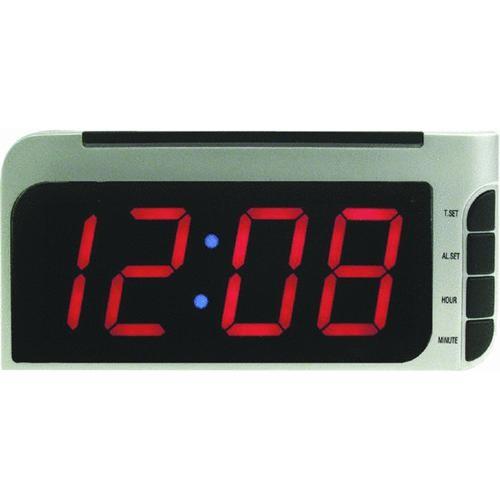 Geneva Clock Company LED Auto Set Electric Alarm Clock