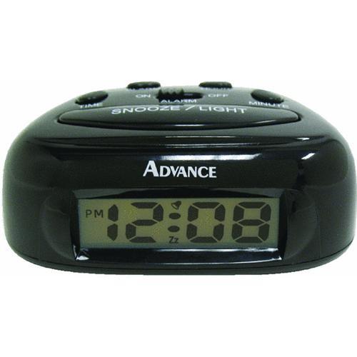 Geneva Clock Company LCD Battery Operated Alarm Clock