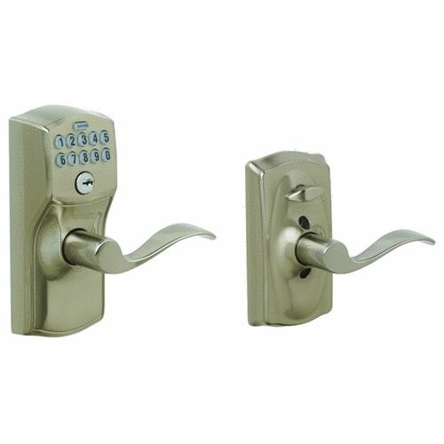Schlage Lock Camelot Lever Electronic Keypad Entry Lock