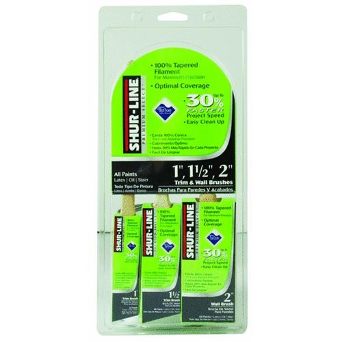 Shur Line Shur-Line 3-Pack Premium Select Nonstick Coated Paint Brush Set