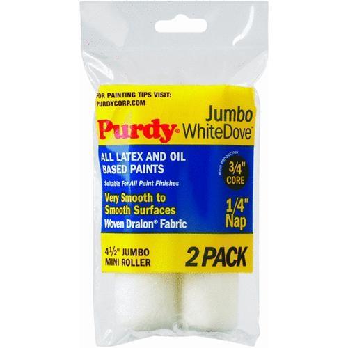 Purdy Corp. Jumbo White Dove Mini Woven Fabric Roller Cover