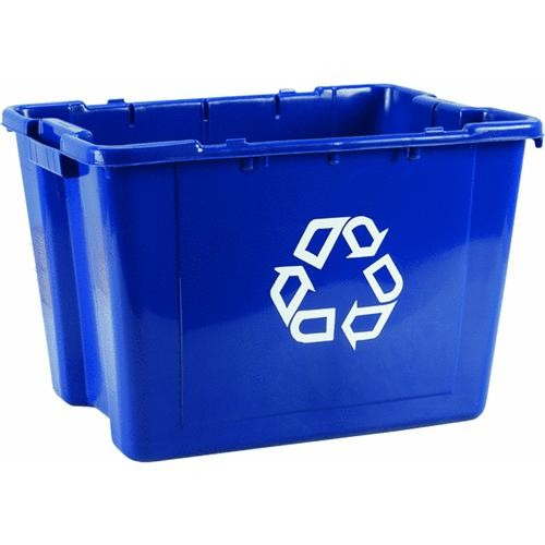 Rubbermaid Comm. Blue Recycling Box