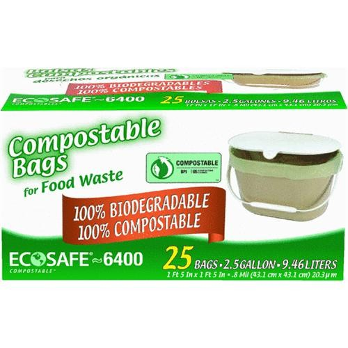 Presto Products EcoSafe-6400 Compostable Food Waste Trash Bag