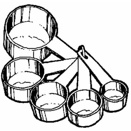 Norpro 5-Piece Plastic Measuring Cup Set
