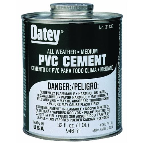 Oatey Clear All-Weather PVC Cement