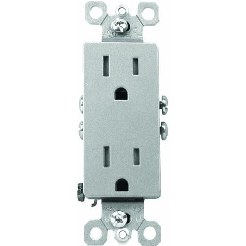 Pass & Seymour Nickel Tamper-Resistant Duplex Outlet