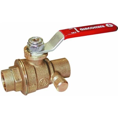 Mueller/B & K Low Lead Full Port Ball Valves With Waste Solder End