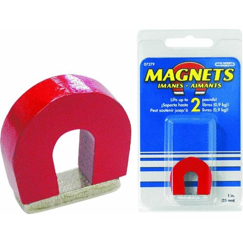 Master Magnetics Red Alnico Horseshoe Magnet No. 2 Pull