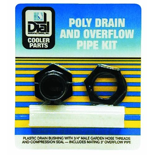 Dial Mfg. Plastic Drain And Overflow Pipe