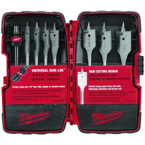 Milwaukee Accessory Milwaukee 8-Piece Universal Spade Bit Set