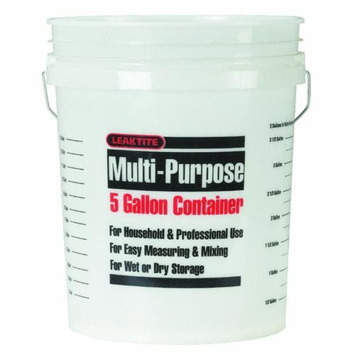 Leaktite Corp. 5 Gallon Clear Plastic Pail
