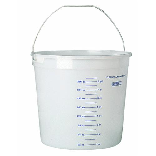 Leaktite Corp. 10 Quart Clear Measure Polysteel Rim Pail