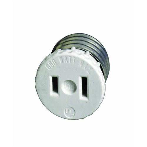 Leviton Outlet to Medium Base Light Socket Adapter