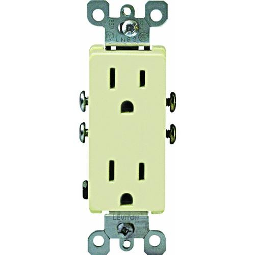 Leviton Leviton DECORA Grounded Duplex Outlet