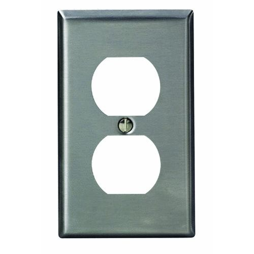 Leviton Stainless Steel Outlet Wall Plate