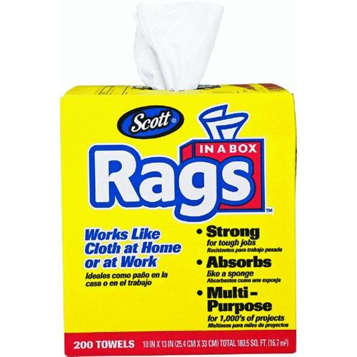 Kimberly-Clark/Scott Paper Scott Rags In A Box, White