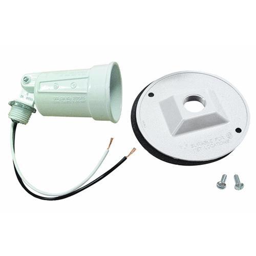 Hubbell White Weatherproof Outdoor Lampholder