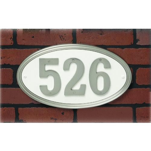 Hyko Prod. Brushed Gold Oval Address Plaque
