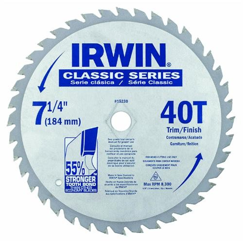 Irwin Irwin Classic Series Carbide Tipped Circular Saw Blade