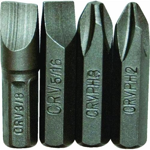 Great Neck Great Neck 4-Piece Insert Impact Screwdriver Bit Set
