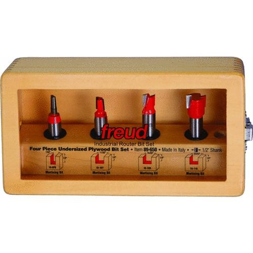 Freud Inc 4-Piece Undersized Plywood Router Bit Set