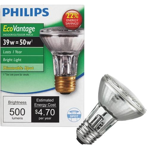Philips Lighting Co Philips EcoVantage PAR20 Halogen Floodlight Light Bulb