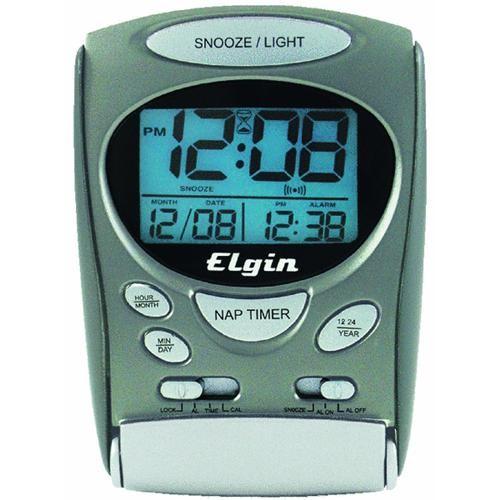 Geneva Clock Company LCD Travel Alarm Clock