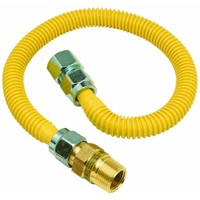"""Brass Craft 5/8"""" O.D. Gas Connector - 3/4"""" M.I.P. (1/2"""" F.I.P.) Safety+PLUS x 3/4"""" F.I.P."""