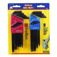 Eklind Ball-Hex-L Metric and SAE Key Wrench Set