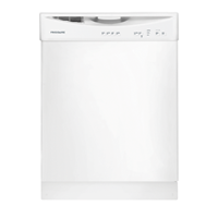 """Frigidaire 24"""" BUILT IN DISHWASHER Energy Star, 4 Cycle, Electric Control, FFBD2408NW, White"""