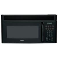 Hotpoint Microwave 1.5 C/F  Over-The-Range, 950 Watts, 10 Power Levels, 200 CFM Vent. RVM1535DMBB, Black