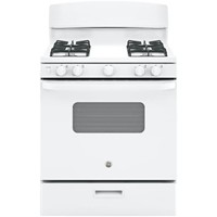 "General Electric 30"" Freestanding Gas Range, ADA Compliant, Window, Electric Ignition, JGBS10DEKWW, White"
