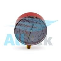 AllTek Manifold Gauge Red- R12, R22, R134a, R410a