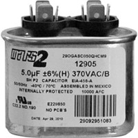 Motors and Armatures Oval Run Capacitor 7.5 MFD x 370V