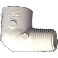 "PVC Schedule 40 Fittings PVC Elbow, 3/4"" 90deg Sch 40 (MIPxSOC)"