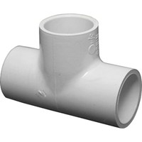 "PVC Schedule 40 Fittings PVC Tee, 3/4"" Sch 40 (SOC)"