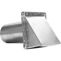 "Miami Tech Side Wall Vent, 4"" Galv w/Damper"