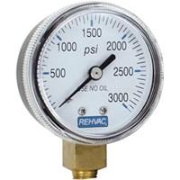 Rehvac Sterling Gauge, 3,000 psi High Pressure Replacement