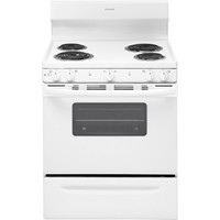 "Frigidaire 30"" Freestanding Electric Range Coil Burner, Window, Manual Clean, ADA Compliant, FFEF3010TW, White"
