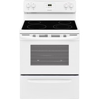 "Frigidaire 30"" Freestanding Electric Range Smoothtop, Clock, Window, Manual Clean, FFEF3051TW, White"