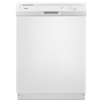 """Whirlpool 24"""" Built In Dishwasher, 3 Cycles, 1 Hour Wash Feature,WDF130PAHW, White"""