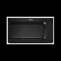Whirlpool Microwave 1.7 C/F  Over-The-Range, 1000 Watts, 2 Speed, 300 CFM Vent, WMH31017HB, Black